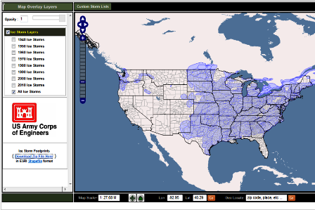 click image for data the storm footprints in the gis delineate the area where ice