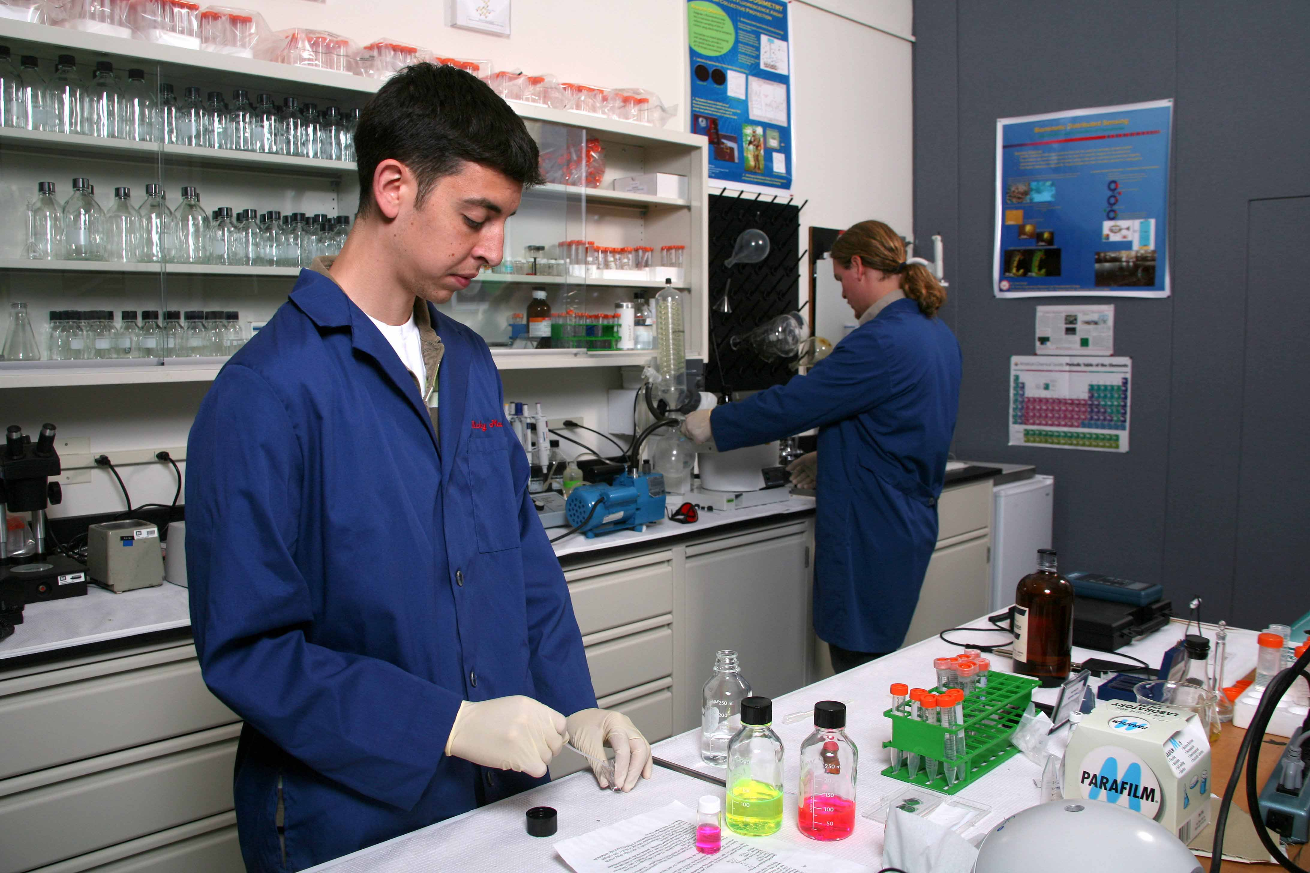 Researchers working at the TEC Fluorescence Lab
